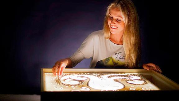 Планшет для рисования песком с подсветкой