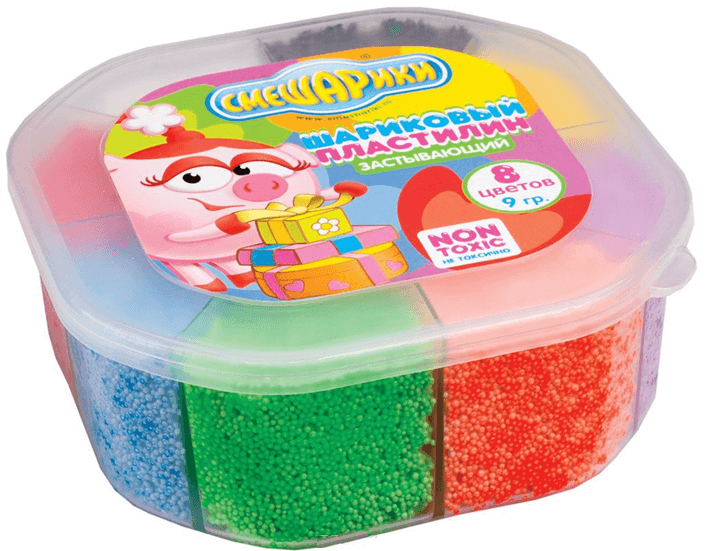 пластилин из мелких шариков