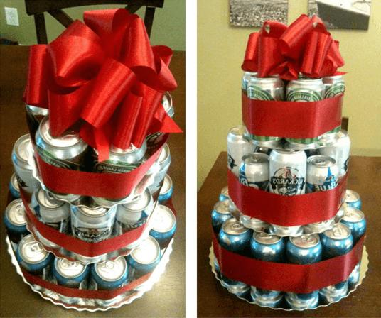 Торт из пивных банок