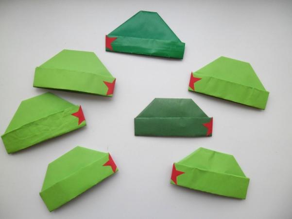 Подарок дедушке из оригами