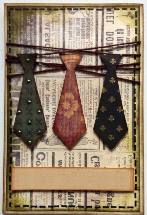 Открытка с галстуками